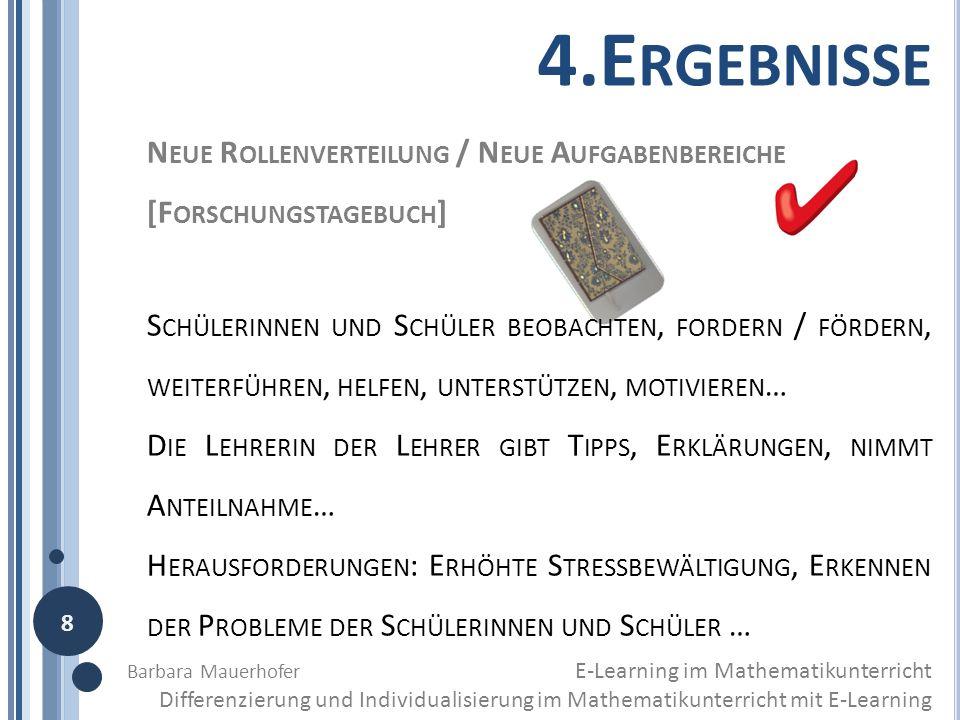4.Ergebnisse Neue Rollenverteilung / Neue Aufgabenbereiche [Forschungstagebuch]